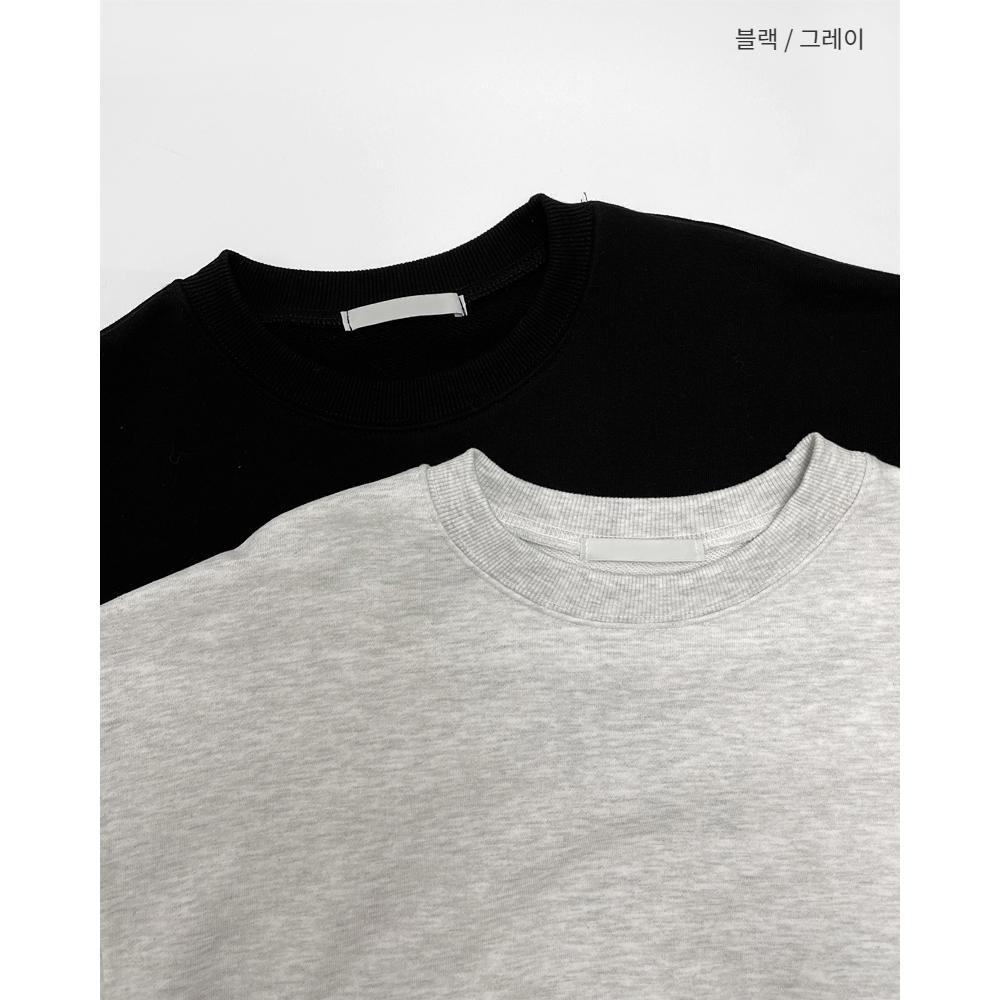 긴팔 티셔츠 차콜 색상 이미지-S1L8
